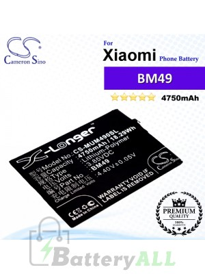 CS-MUM490SL For Xiaomi Phone Battery Model BM49