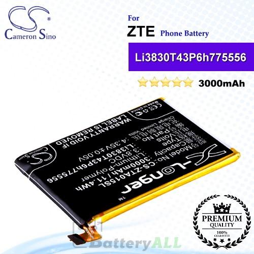 CS-ZTA015SL For ZTE Phone Battery Model Li3830T43P6h775556