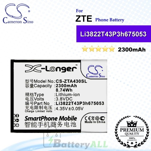 CS-ZTA430SL For ZTE Phone Battery Model Li3822T43P3h675053
