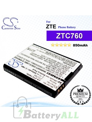 CS-ZTC760SL For ZTE Phone Battery Model ZTC760