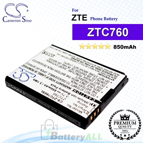 CS-ZTC760SL For ZTE Phone Battery Model ZTC760