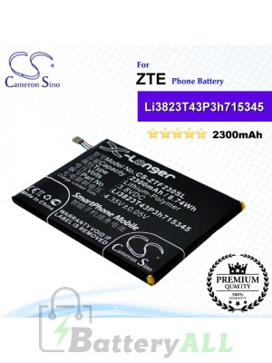 CS-ZTF230SL For ZTE Phone Battery Model Li3823T43P3h715345