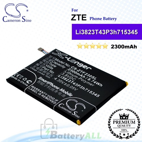 CS-ZTF230SL For ZTE Phone Battery Model Li3823T43P3h715345