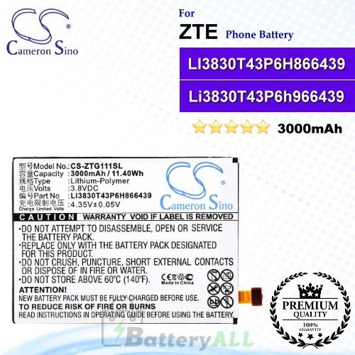 CS-ZTG111SL For ZTE Phone Battery Model LI3830T43P6H866439 / Li3830T43P6h966439