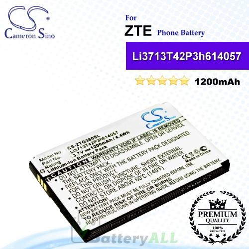 CS-ZTG380SL For ZTE Phone Battery Model Li3713T42P3h614057