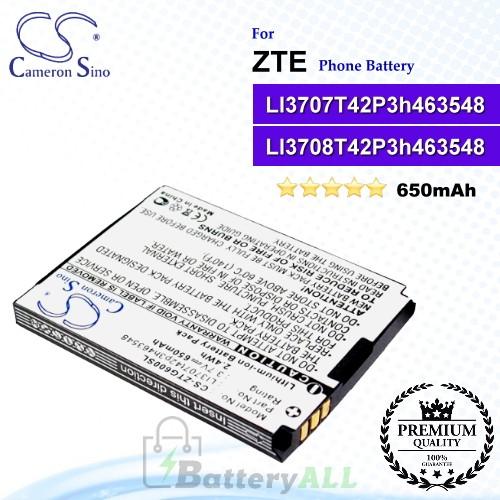 CS-ZTG600SL For ZTE Phone Battery Model LI3707T42P3h463548 / LI3708T42P3h463548