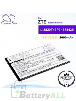 CS-ZTL300SL For ZTE Phone Battery Model Li3820T43P3h785439