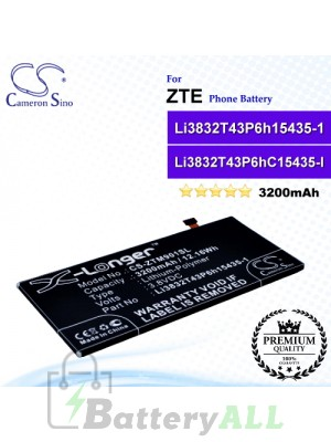 CS-ZTM901SL For ZTE Phone Battery Model Li3832T43P6h15435-1 / Li3832T43P6HC15435-1 / Li3832T43P6hC15435-I