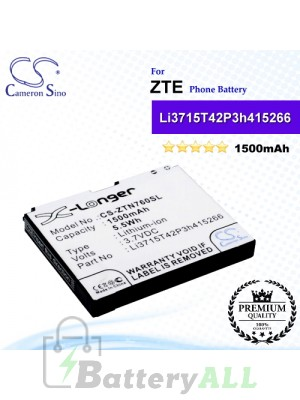 CS-ZTN760SL For ZTE Phone Battery Model Li3715T42P3h415266