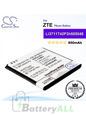 CS-ZTN795SL For ZTE Phone Battery Model Li3711T42P3h505048