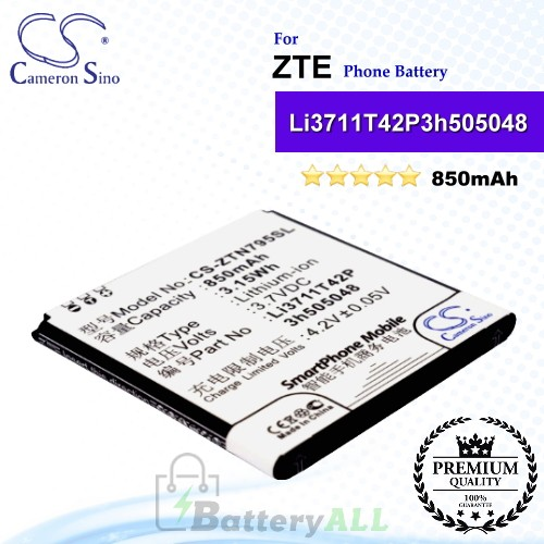 CS-ZTN795SL For ZTE Phone Battery Model Li3711T42P3h505048