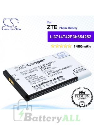CS-ZTN809XL For ZTE Phone Battery Model Li3714T42P3h654252