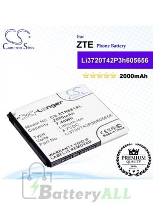 CS-ZTN881XL For ZTE Phone Battery Model Li3720T42P3h605656