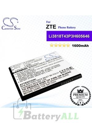 CS-ZTN909SL For ZTE Phone Battery Model Li3818T43P3H605646