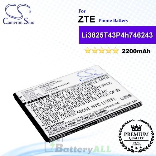 CS-ZTN928SL For ZTE Phone Battery Model Li3825T43P4h746243