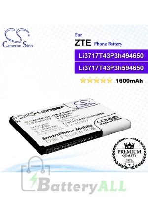 CS-ZTN970XL For ZTE Phone Battery Model Li3716T42P3h594650 / Li3717T43P3h494650 / Li3717T43P3h594650