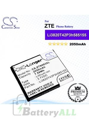 CS-ZTN983XL For ZTE Phone Battery Model Li3820T42P3h585155