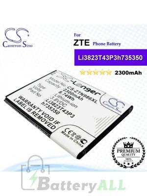 CS-ZTN986XL For ZTE Phone Battery Model Li3823T43P3h735350