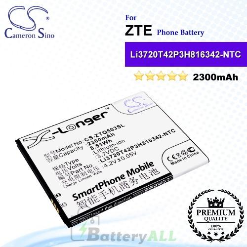 CS-ZTQ503SL For ZTE Phone Battery Model Li3720T42P3H816342 / Li3720T42P3H816342-NTC