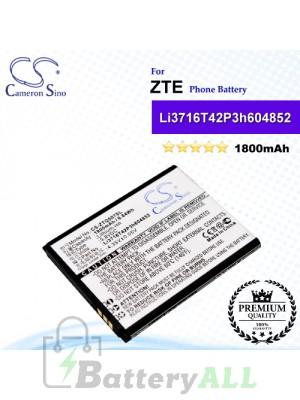 CS-ZTQ507SL For ZTE Phone Battery Model Li3716T42P3h604852