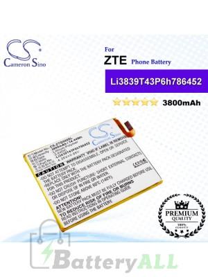 CS-ZTQ509SL For ZTE Phone Battery Model Li3839T43P6h786452
