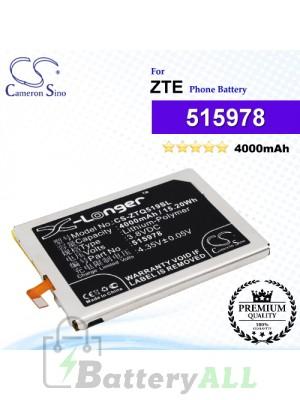 CS-ZTQ519SL For ZTE Phone Battery Model 515978 / E169-515978