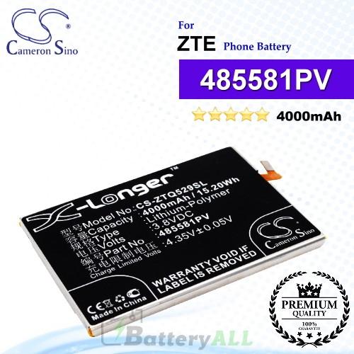 CS-ZTQ529SL For ZTE Phone Battery Model 485581PV