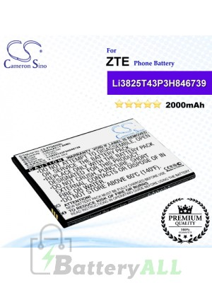 CS-ZTQ805SL For ZTE Phone Battery Model Li3825T43P3h846739