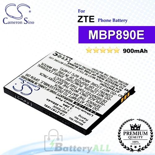 CS-ZTR710SL For ZTE Phone Battery Model MBP890E