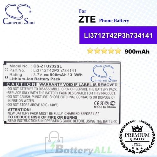 CS-ZTU232SL For ZTE Phone Battery Model Li3712T42P3h734141