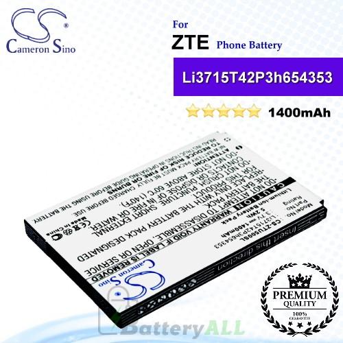 CS-ZTU500SL For ZTE Phone Battery Model Li3715T42P3h654353
