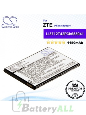 CS-ZTU790SL For ZTE Phone Battery Model Li3712T42P3h655041