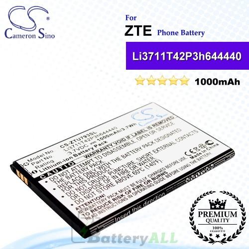 CS-ZTU793SL For ZTE Phone Battery Model Li3711T42P3h644440