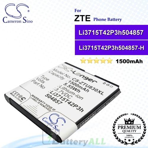 CS-ZTU830XL For ZTE Phone Battery Model Li3715T42P3h504857 / Li3715T42P3h504857-H