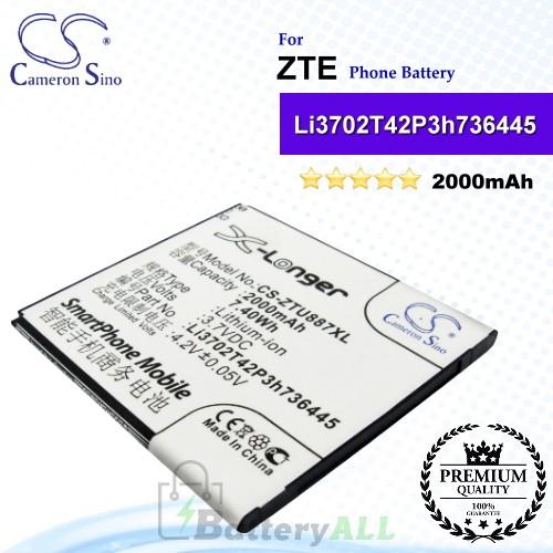 CS-ZTU887XL For ZTE Phone Battery Model Li3702T42P3h736445