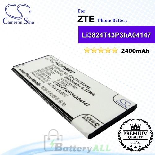 CS-ZTU918SL For ZTE Phone Battery Model Li3821T43P3hA04147 / Li3824T43P3hA04147
