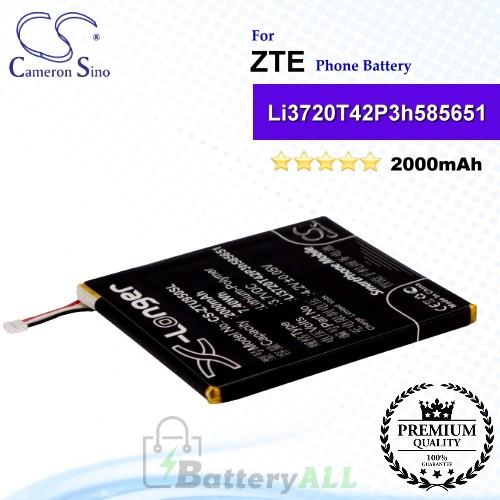 CS-ZTU950SL For ZTE Phone Battery Model Li3720T42P3h585651