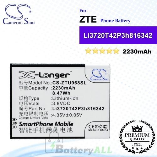 CS-ZTU968SL For ZTE Phone Battery Model Li3720T42P3h816342 / Li3823T43P3h816342
