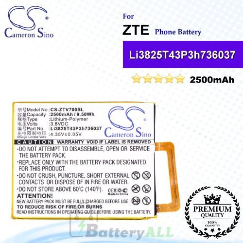 CS-ZTV700SL For ZTE Phone Battery Model Li3825T43P3h736037