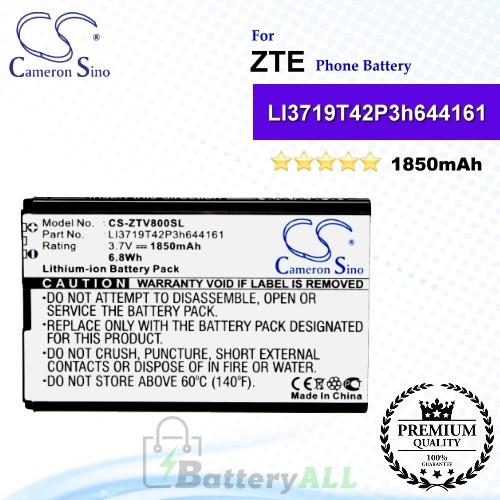 CS-ZTV800SL For ZTE Phone Battery Model LI3719T42P3h644161
