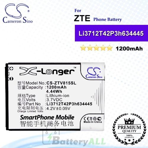 CS-ZTV815SL For ZTE Phone Battery Model Li3712T42P3h634445