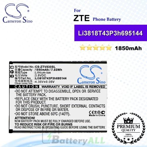 CS-ZTV830SL For ZTE Phone Battery Model Li3818T43P3h695144