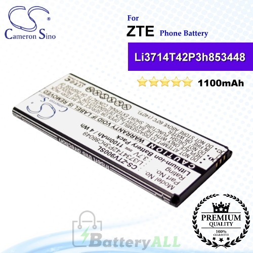 CS-ZTV900SL For ZTE Phone Battery Model Li3714T42P3h853448