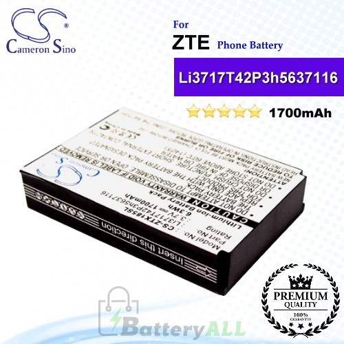 CS-ZTX185SL For ZTE Phone Battery Model Li3717T42P3h5637116