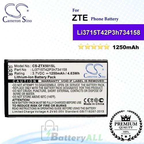 CS-ZTX501SL For ZTE Phone Battery Model Li3715T42P3h734158