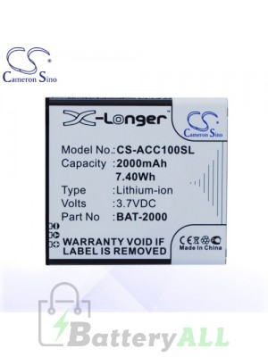 CS Battery for Acer BAT-2000 / Acer Liquid C1 Battery PHO-ACC100SL