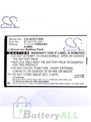 CS Battery for Acer Liquid Gallant Duo E330 / Liquid Mini C4 Battery PHO-ACE310SL
