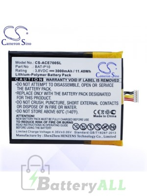 CS Battery for Acer BAT-P10 / BAT-P10 (1ICP5/61/73) / PGF506173HT Battery PHO-ACE700SL