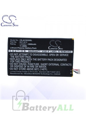 CS Battery for Acer KT.0010S.007 / 1CP415793L1 1S1P Battery PHO-ACS520SL