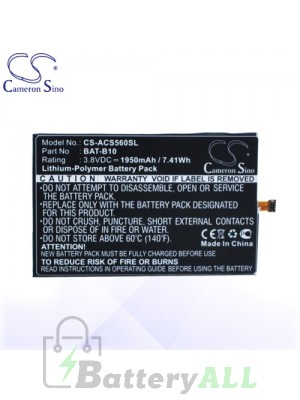 CS Battery for Acer BAT-B10 / PGF295686HT / KT.0010S.013 Battery PHO-ACS560SL